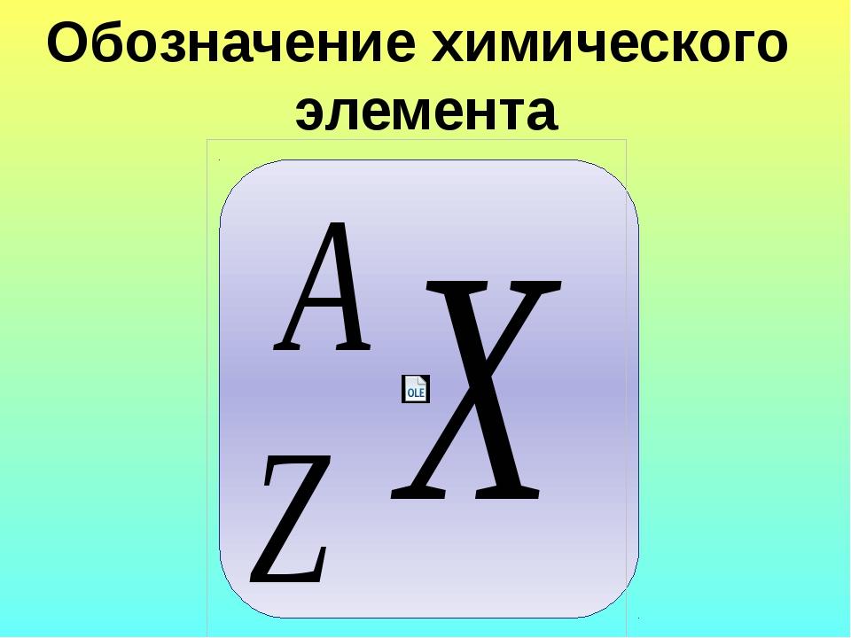 Обозначение химического элемента