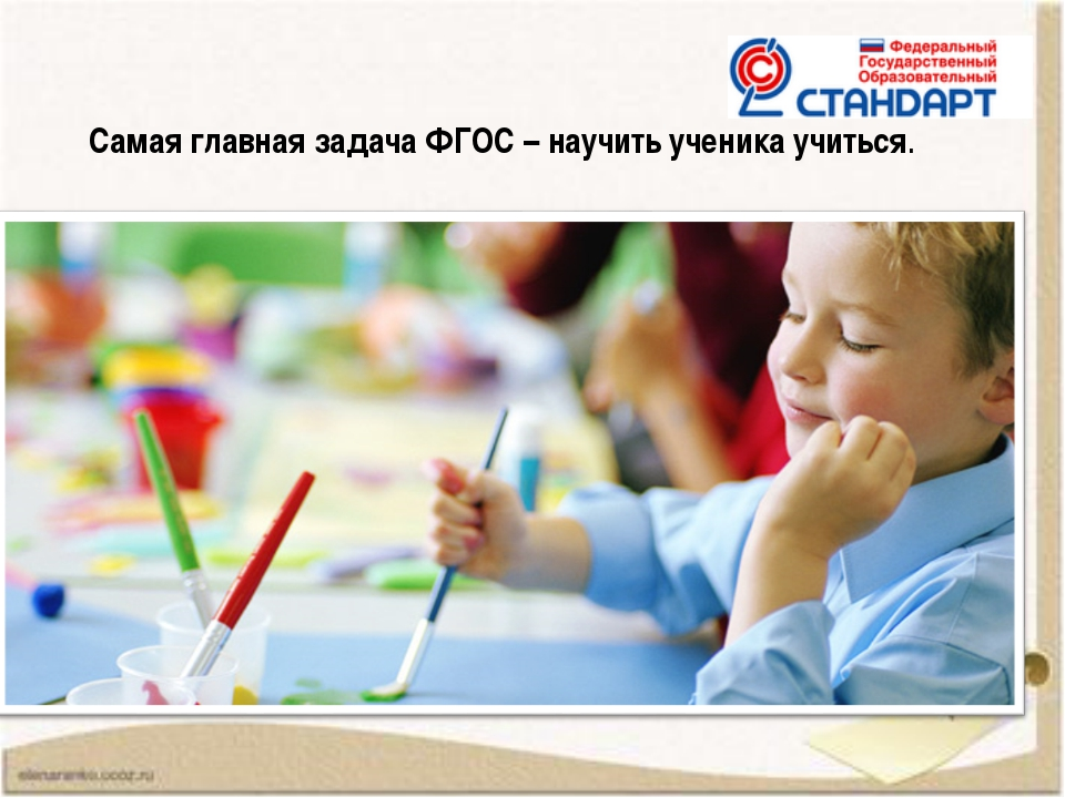 Самая главная задача ФГОС – научить ученика учиться.