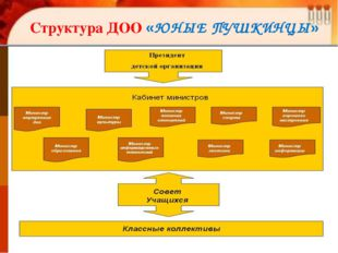 Структура ДОО «ЮНЫЕ ПУШКИНЦЫ»