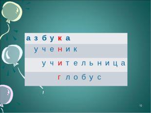 * азбука ученик учительница глобу