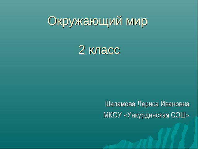 Окружающий мир 2 класс Шаламова Лариса Ивановна МКОУ «Ункурдинская СОШ»