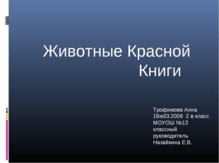 Трофимова Анна 18ю03.2006 2 в класс МОУОШ №13 классный руководитель Назайкин