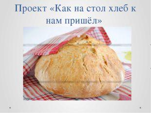 Проект «Как на стол хлеб к нам пришёл»
