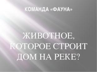 КОМАНДА «ФАУНА» ЖИВОТНОЕ, КОТОРОЕ СТРОИТ ДОМ НА РЕКЕ?