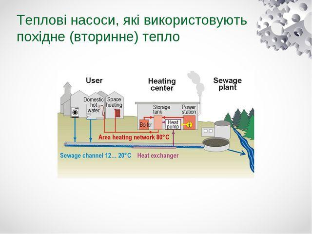 Теплові насоси, які використовують похідне (вторинне) тепло