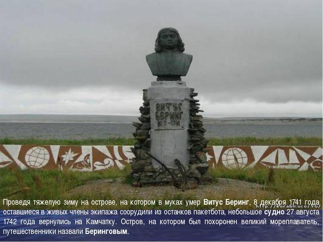 Проведя тяжелую зиму на острове, на котором в муках умер Витус Беринг, 8 дека...
