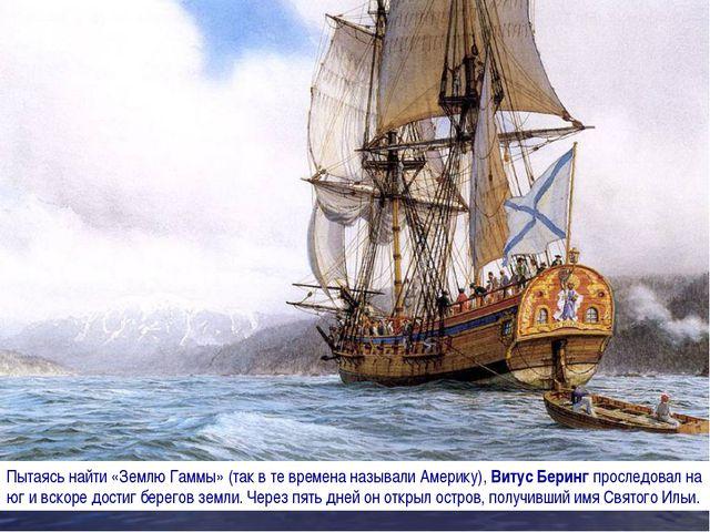 Пытаясь найти «Землю Гаммы» (так в те времена называли Америку), Витус Беринг...