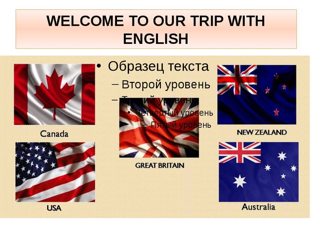 WELCOME TO OUR TRIP WITH ENGLISH