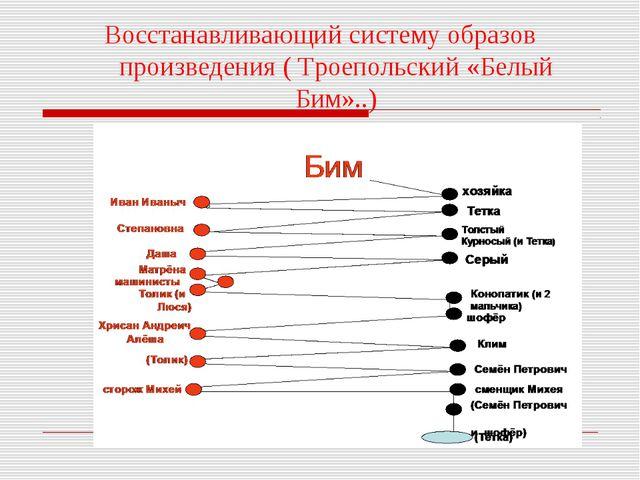 Восстанавливающий систему образов произведения ( Троепольский «Белый Бим»..)