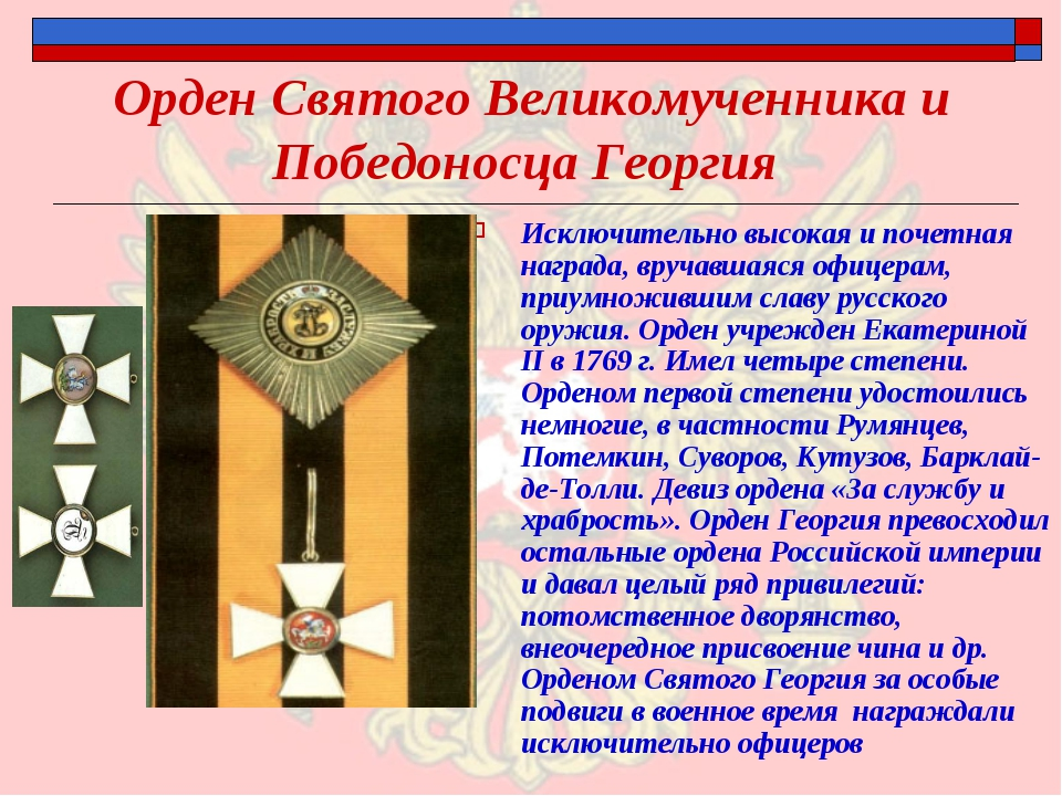 Орден Святого Великомученника и Победоносца Георгия Исключительно высокая и п...
