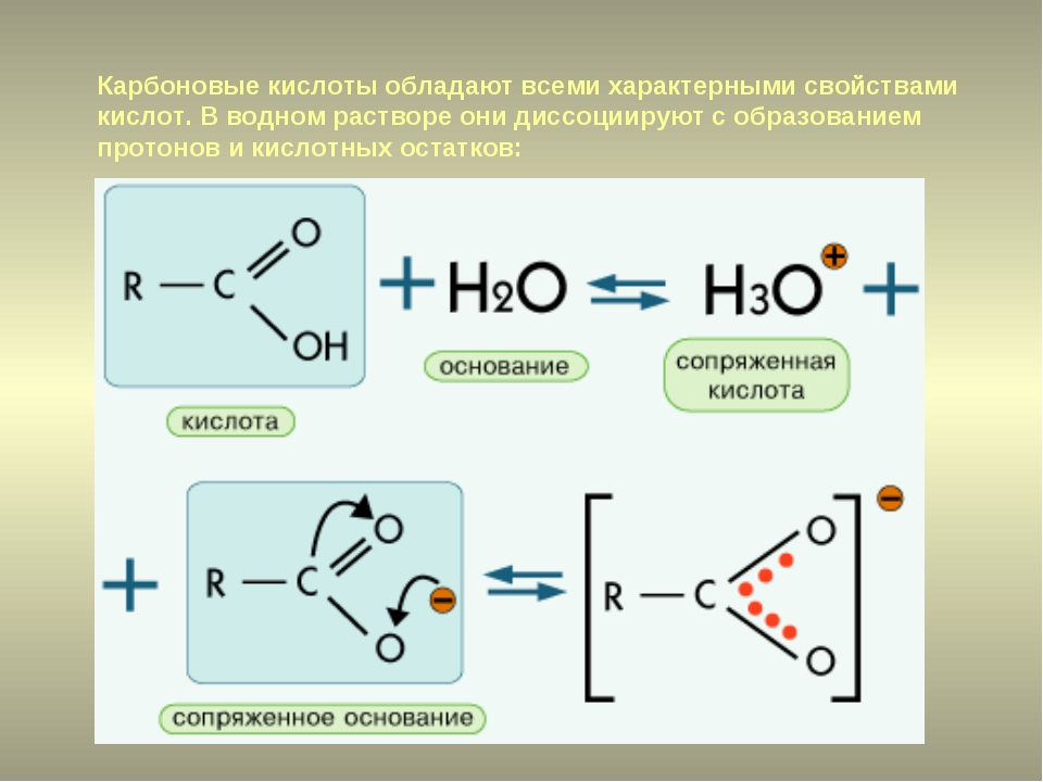 Карбоновые кислоты обладают всеми характерными свойствами кислот. В водном ра...