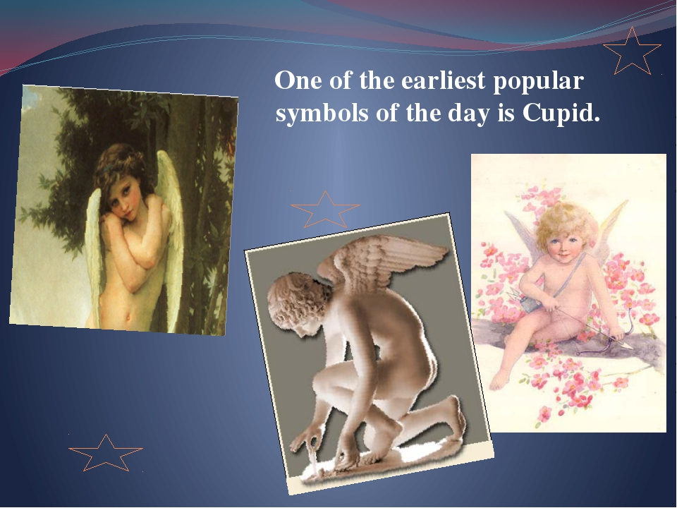One of the earliest popular symbols of the day is Cupid.