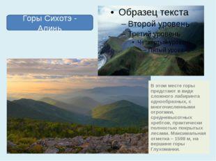 В этом месте горы предстают в виде сложного лабиринта однообразных, с многочи