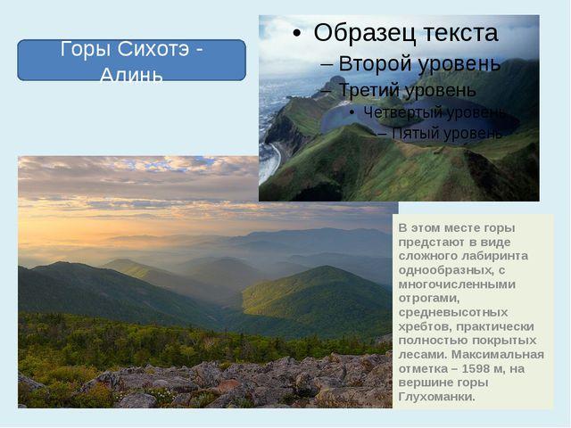В этом месте горы предстают в виде сложного лабиринта однообразных, с многочи...