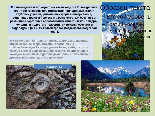 В заповеднике и его окрестностях находится более десятка гор-«трехтысячников»...