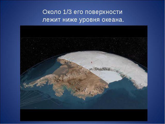 Около 1/3 его поверхности лежит ниже уровня океана.