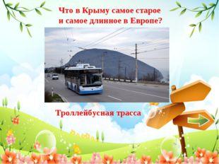 Что в Крыму самое старое и самое длинное в Европе? Троллейбусная трасса