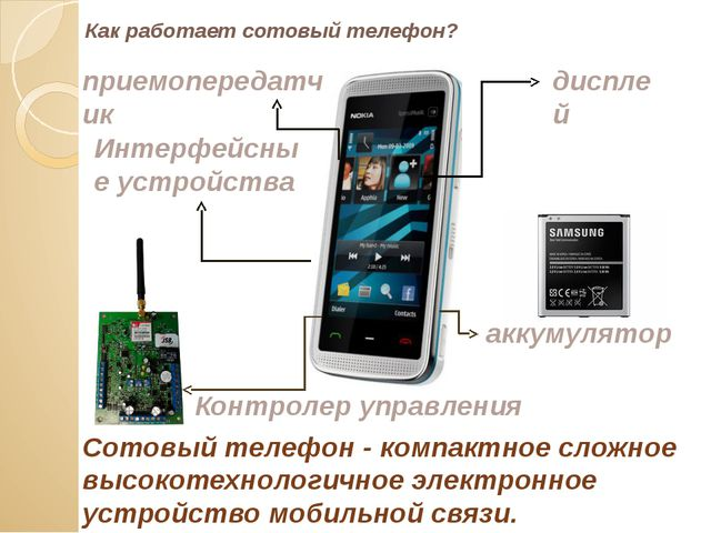 Как работает сотовый телефон? Сотовый телефон - компактное сложное высокотехн...