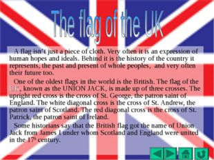 A flag isn't just a piece of cloth. Very often it is an expression of human h