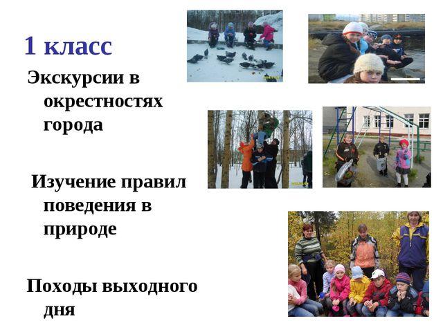 1 класс Экскурсии в окрестностях города Изучение правил поведения в природе П...