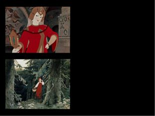 Но невеста молодая, До зари в лесу блуждая, между тем всё шла да шла И на зам