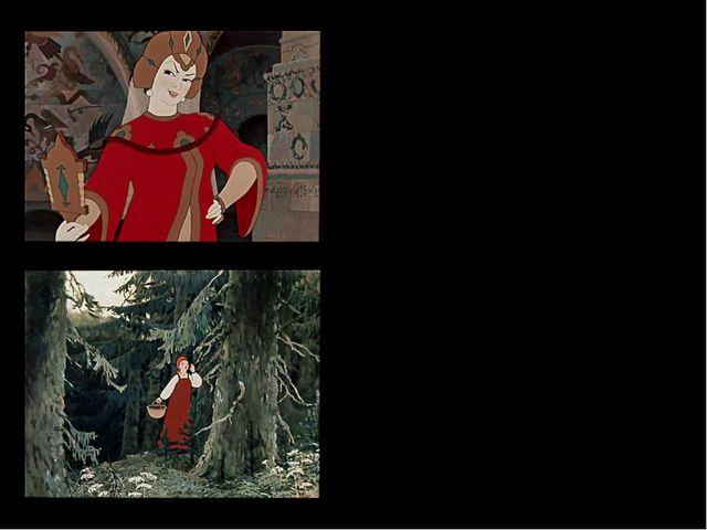 Но невеста молодая, До зари в лесу блуждая, между тем всё шла да шла И на зам...