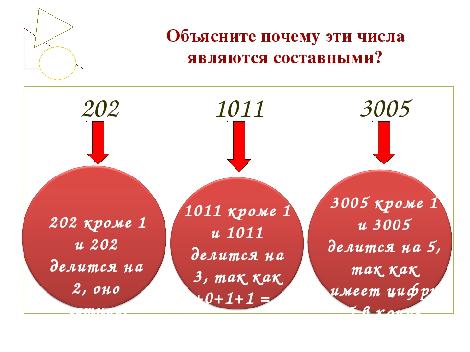 Объясните почему эти числа являются составными? 202 1011 3005