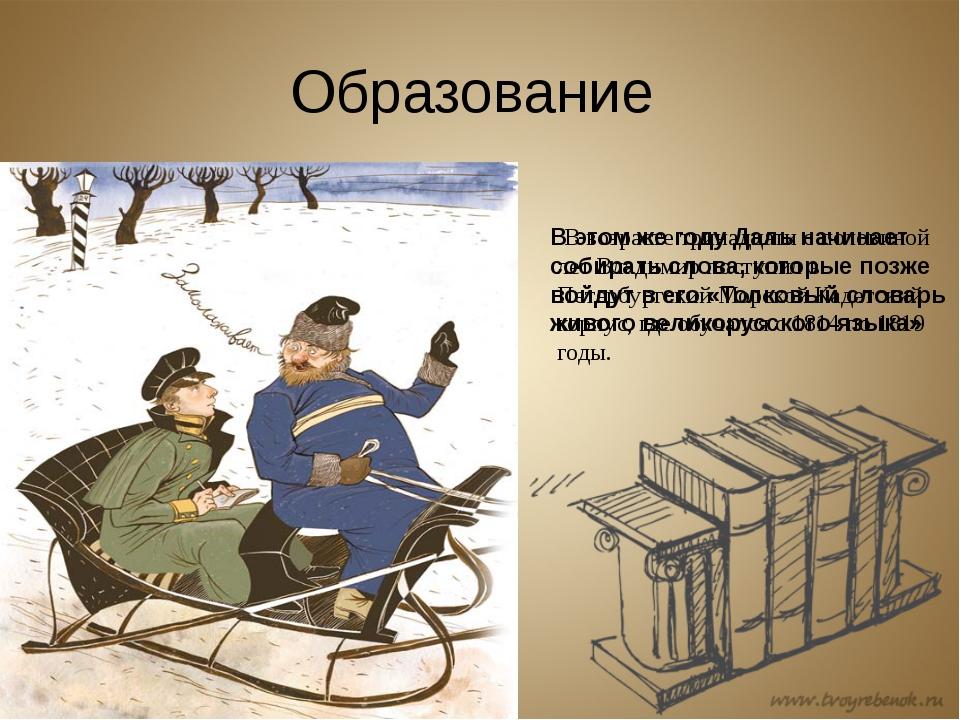 Образование В возрасте тринадцати с половиной лет Владимир поступил в Петербу...