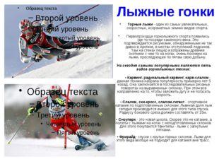 Прыжки на лыжах с трамплина На сегодняшний день прыжки на лыжах с трамплинов
