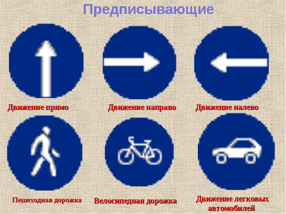 Предписывающие знаки с картинками