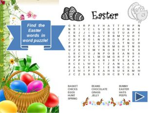Find the Easter words in word puzzle!