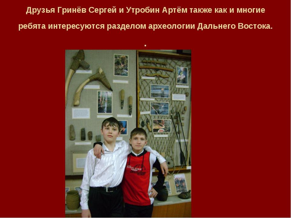 Друзья Гринёв Сергей и Утробин Артём также как и многие ребята интересуются р...