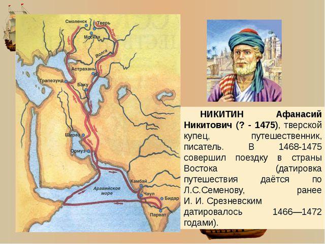 В январе 1473 года Афанасий Никитин отправляется домой.