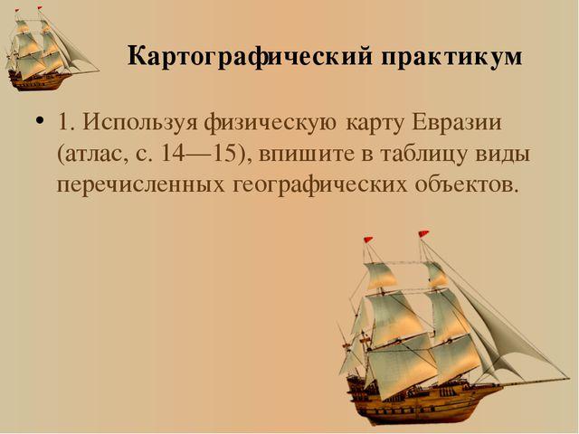№ Виды географических объектов Название географических объектов 1 Тверь 2 Вол...