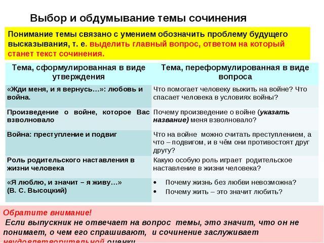 Понимание темы связано с умением обозначить проблему будущего высказывания, т...