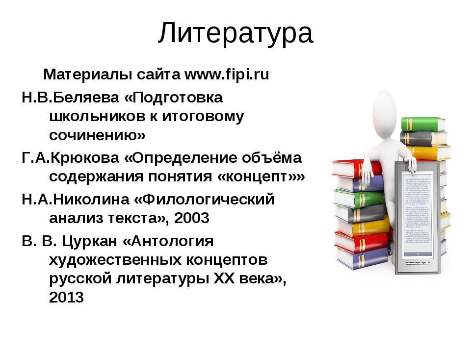 Литература Материалы сайта www.fipi.ru Н.В.Беляева «Подготовка школьников к и...