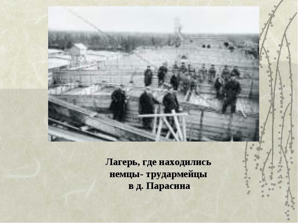 Лагерь, где находились немцы- трудармейцы в д. Парасина