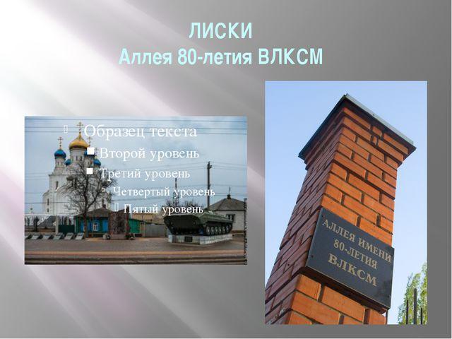 ЛИСКИ Аллея 80-летия ВЛКСМ