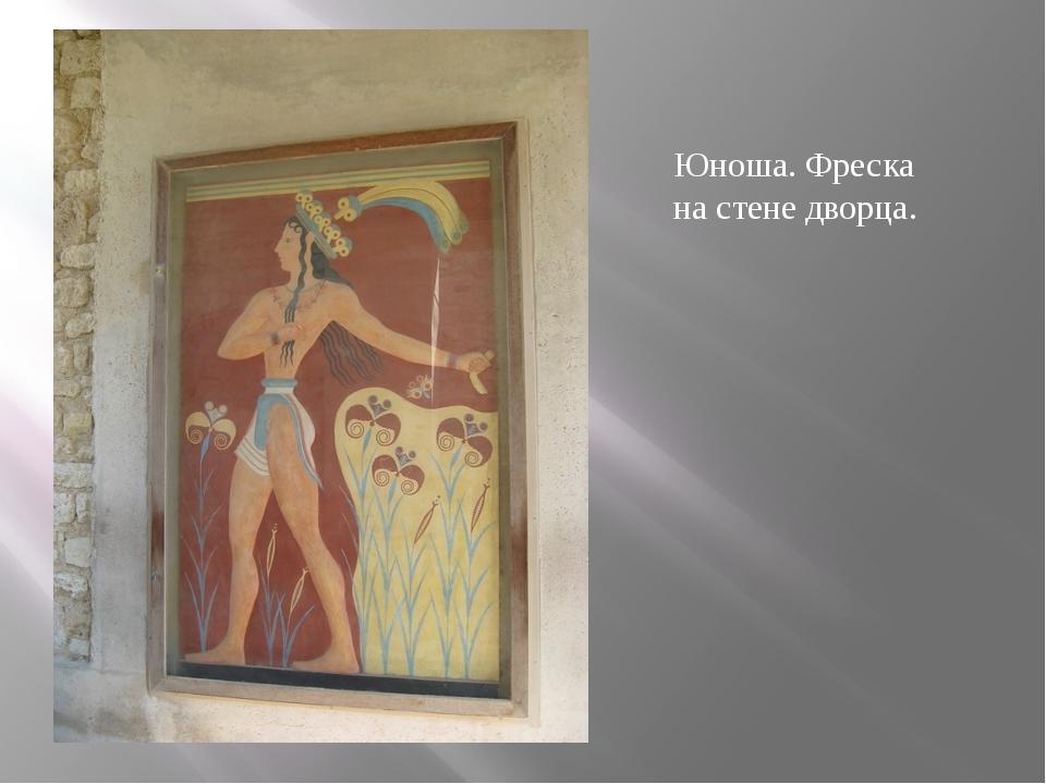 Юноша. Фреска на стене дворца.