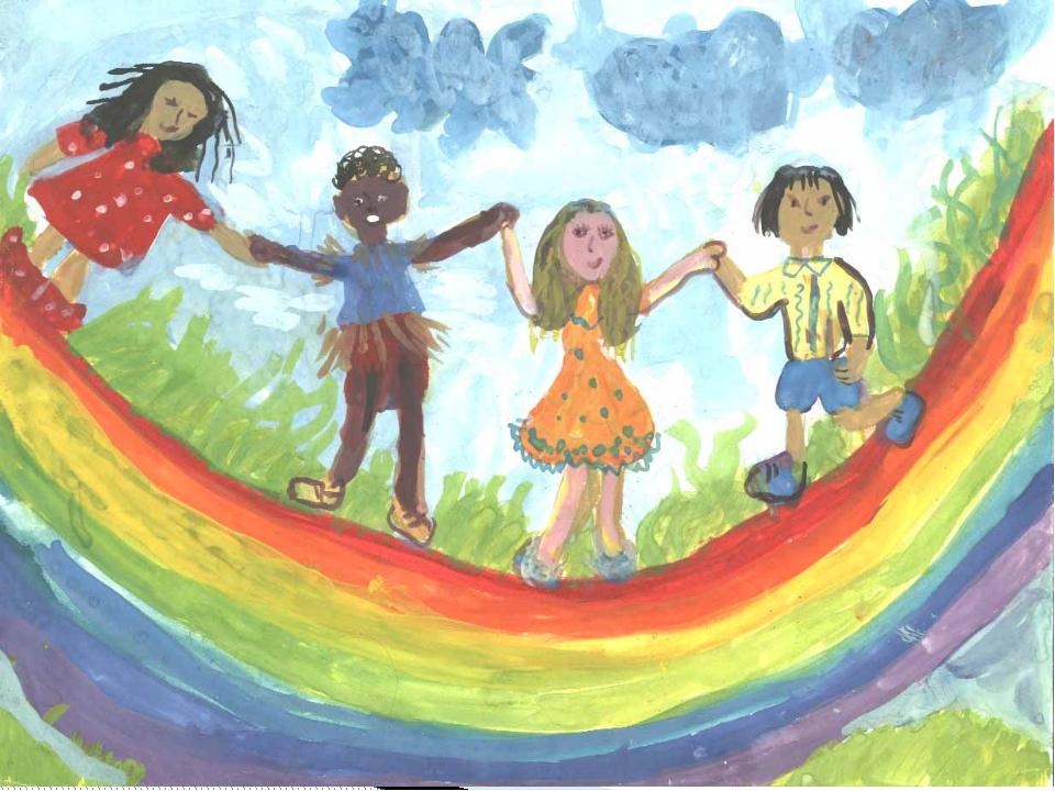 Детские рисунки на тему друзья