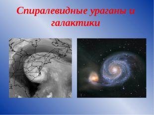 Спиралевидные ураганы и галактики