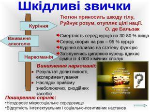 Тютюн приносить шкоду тілу, Руйнує розум, отупляє цілі нації. О. де Бальза