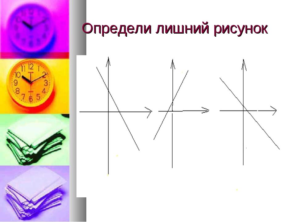 Определи лишний рисунок