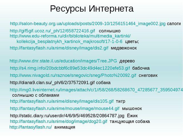 Ресурсы Интернета http://www.edu-reforma.ru/dir/biblioteka/multimedia_kartink...