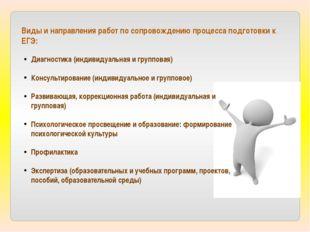 Виды и направления работ по сопровождению процесса подготовки к ЕГЭ: Диагност