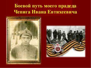 Боевой путь моего прадеда Чепига Ивана Евтихеевича
