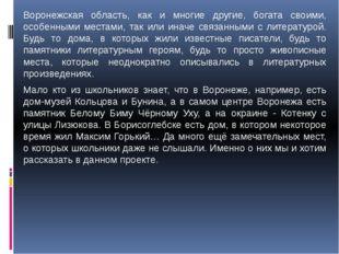 Воронежская область, как и многие другие, богата своими, особенными местами,