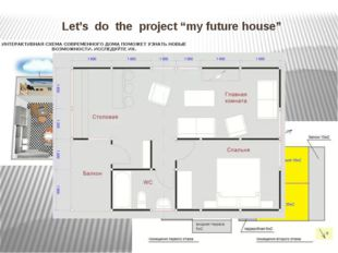 "Let's do the project ""my future house"""