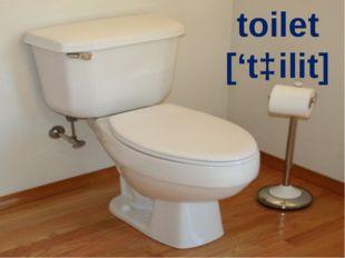 toilet ['tɔilit]