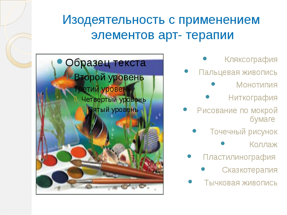 Изодеятельность с применением элементов арт- терапии Кляксография Пальцевая ж...